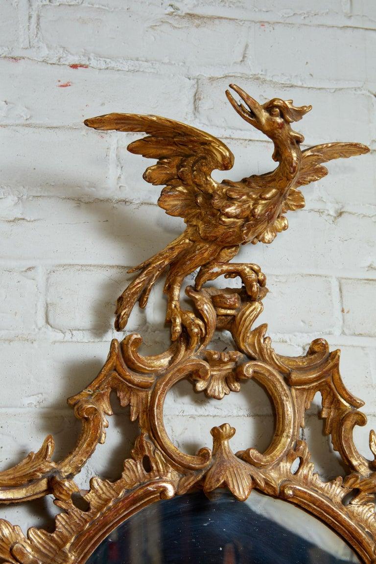 European Georgian Oval Rococo Mirror For Sale