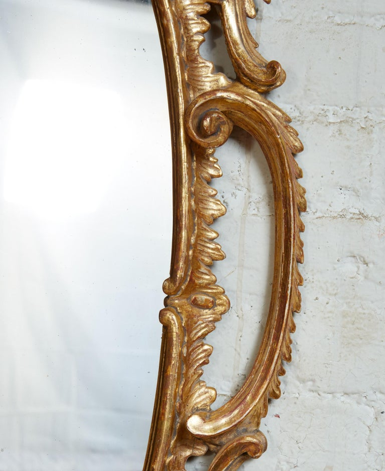 Georgian Oval Rococo Mirror In Good Condition For Sale In New York, NY