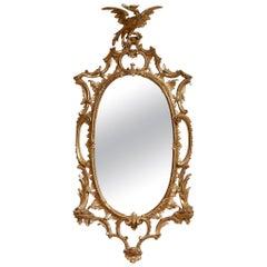 Georgian Oval Rococo Mirror