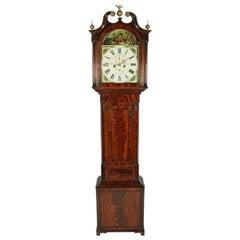 Georgian Painted Dial Grandfather Clock, 19th Century