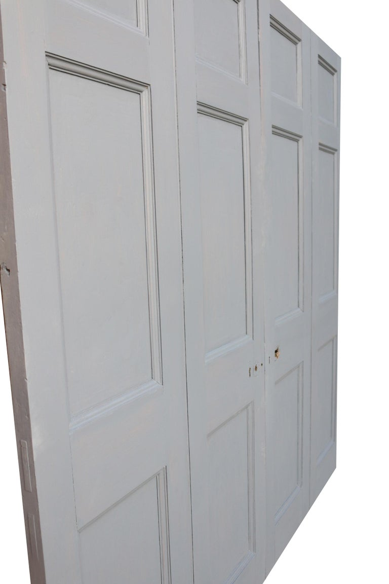 English Georgian Painted Mahogany Double Doors For Sale