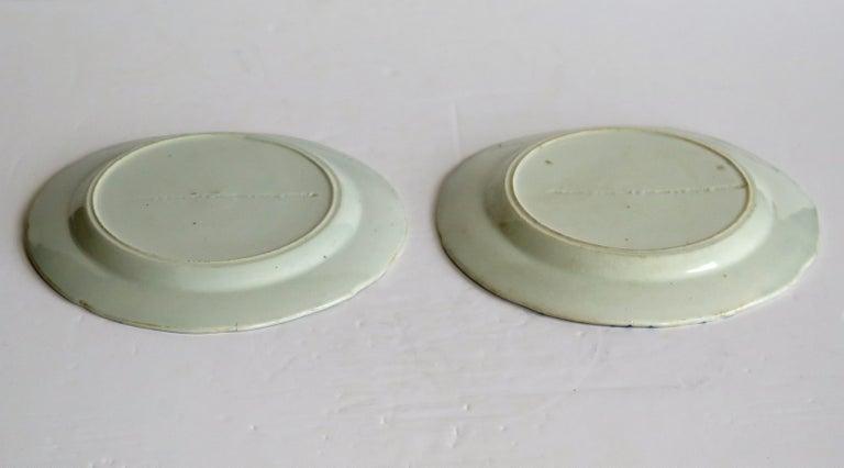 Georgian Pair of Mason's Ironstone Tea Plates Basket Japan Pattern, circa 1818 For Sale 6