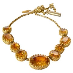 Georgian Paste and Gold Filled Necklace