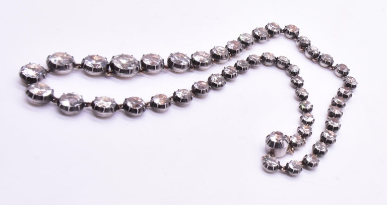 Women's Georgian Paste and Silver Riviere Necklace, 16.5