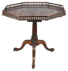 Georgian Period Mahogany Galleried Table