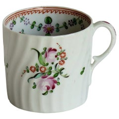Georgian Porcelain Coffee Can Finely Hand Painted by Grainger English circa 1800