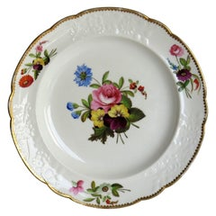 Georgian Porcelain Plate by Spode Hand Painted Botanical Ptn 3127, circa 1820