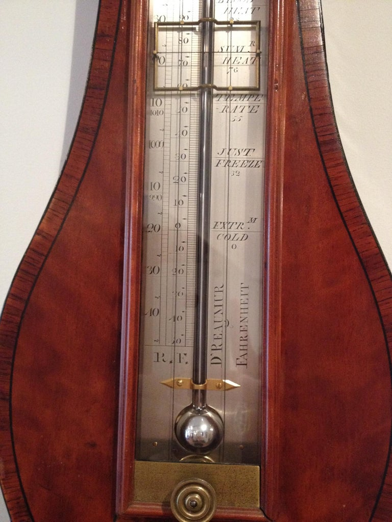 18th Century Antique Georgian Satinwood Precision Barometer