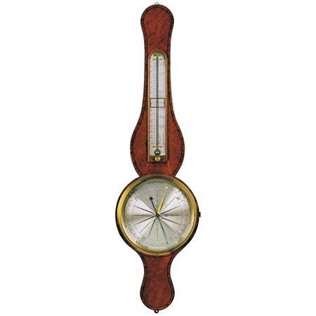 18th Century Antique Georgian Satinwood Precision Barometer