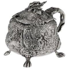 Georgian Rare Silver Mustard Pot, Edward Farrell, circa 1821