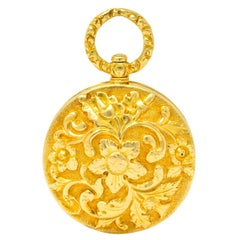 Georgian Regency 18 Karat Gold Vinaigrette Pendant