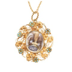Georgian Regency Period Cannetille Forget-Me-Not Locket