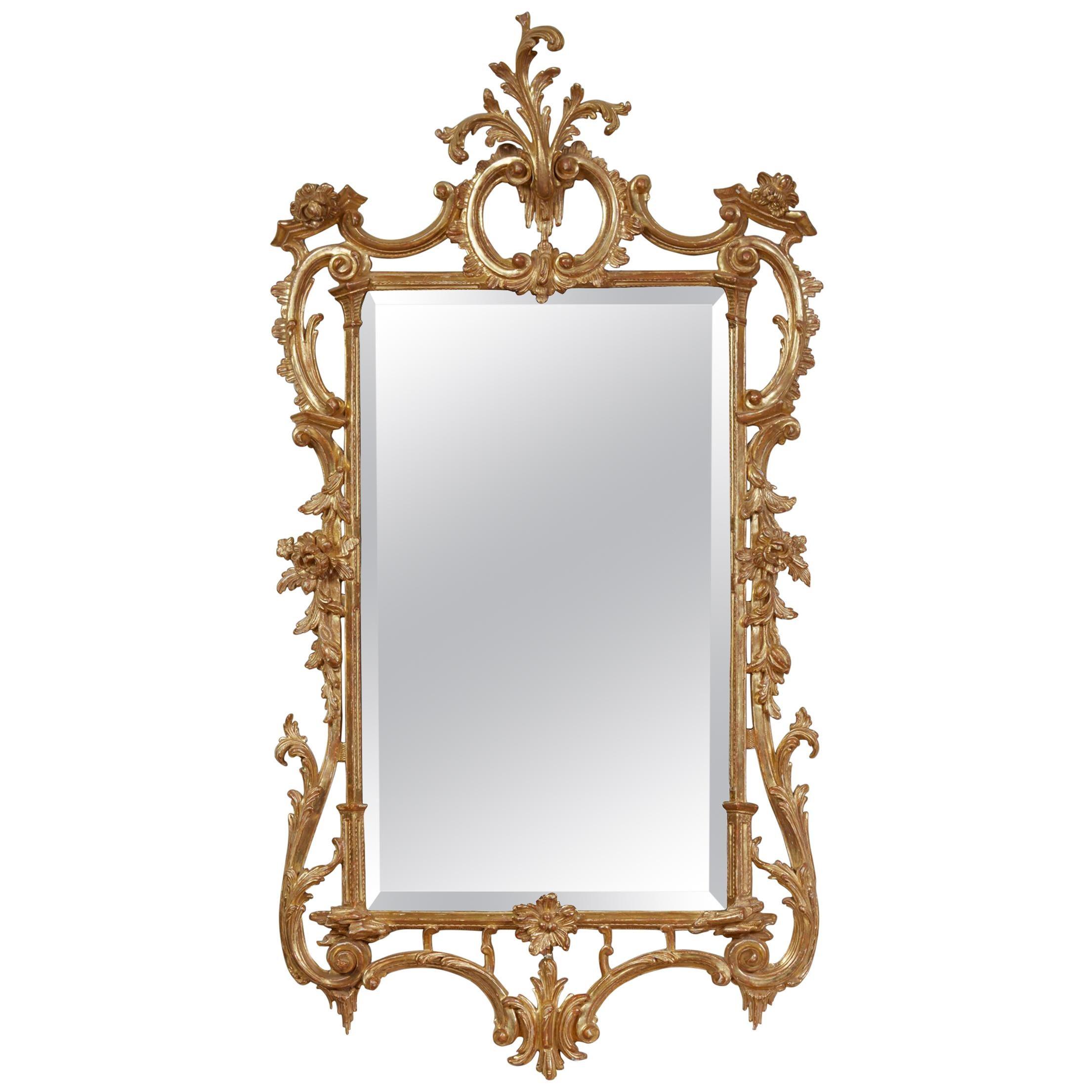 Georgian Rococo Giltwood Mirror