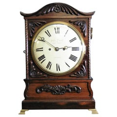 Georgian Rosewood Bracket Clock by John Grant, London