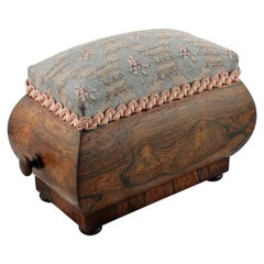 Georgian Rosewood Pin Cushion Box, 19th Century