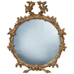 Georgian Round Giltwood Mirror