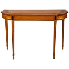 Georgian Satinwood Console Table