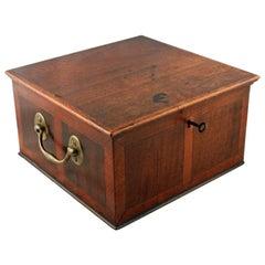 Georgian Satinwood & Mahogany Box, 18th Century