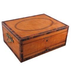 Georgian Satinwood Work Box