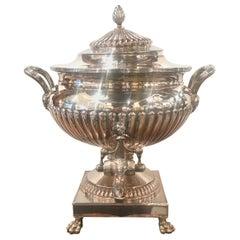 Georgian Sheffield Plate Hot Water Urn, circa 1780-1790