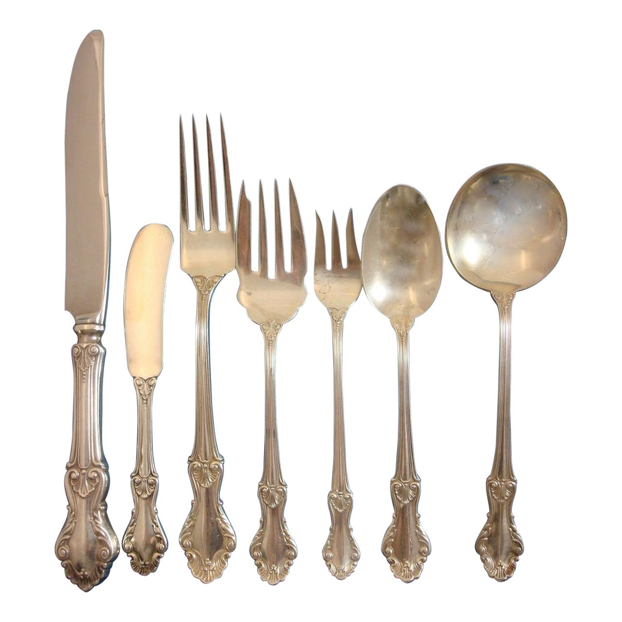 Georgian Shell by Fr Whiting Concord Sterling Silver Flatware Service Set 88 Pcs