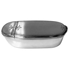 Georgian Silver Bath Snuff Box, London 1767 William and Aaron