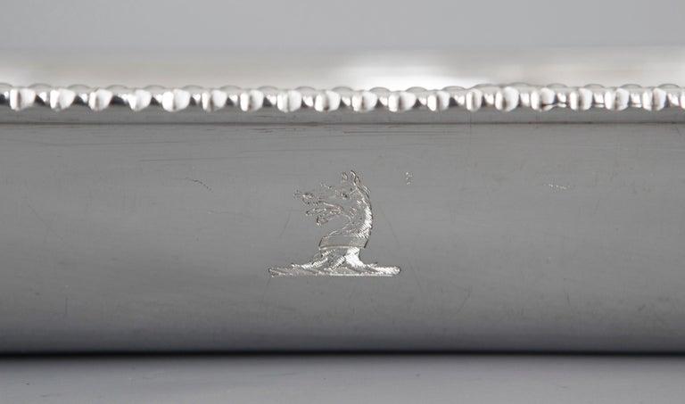 Georgian Silver Entree Dish, London, 1810 by John Foskett & John Stewa For Sale 11