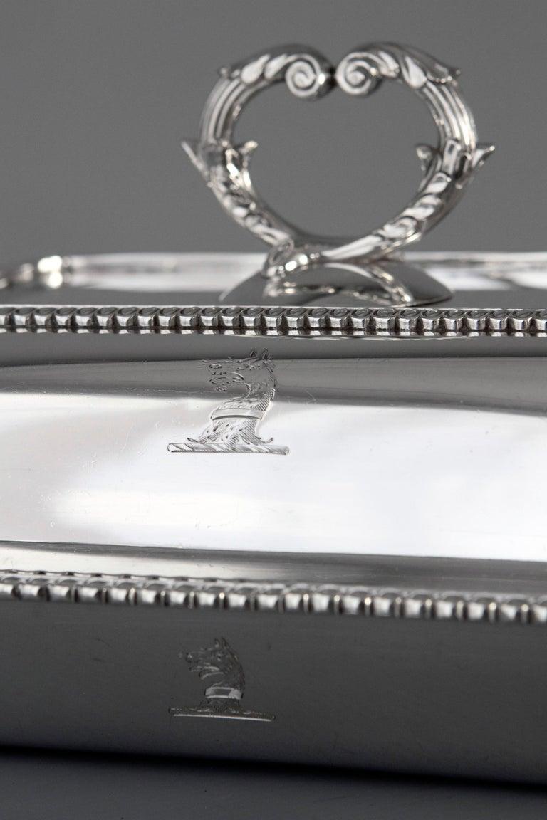 Sterling Silver Georgian Silver Entree Dish, London, 1810 by John Foskett & John Stewa For Sale