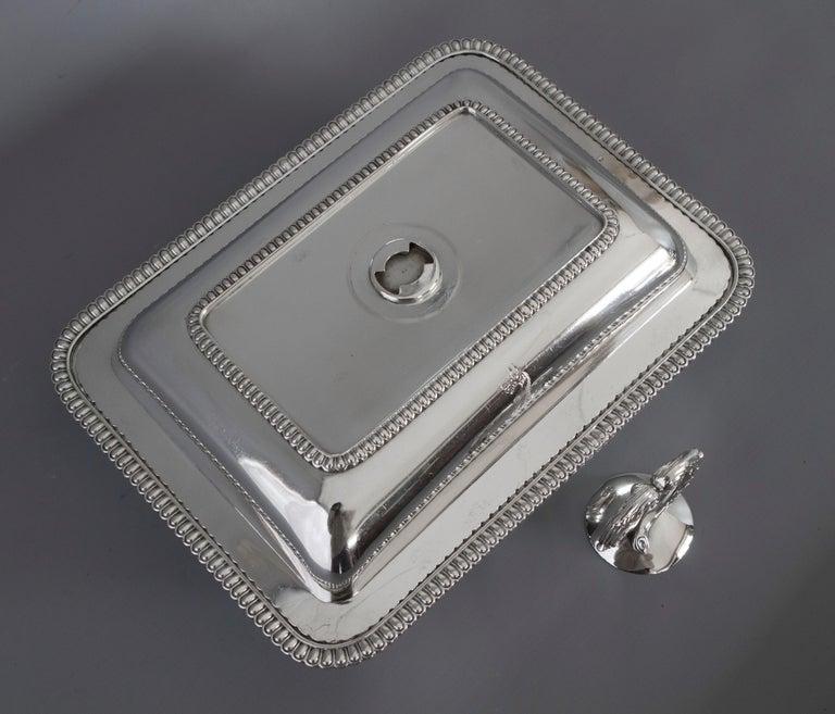 Georgian Silver Entree Dish, London, 1810 by John Foskett & John Stewa For Sale 1