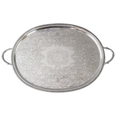 Georgian Silver Tea/Drinks Tray, London 1806 William Bennett