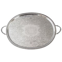 Georgian Silver Tray, London 1806 by William Bennett