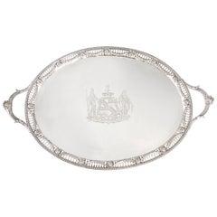 Georgian Silver Tray, London, 1816 by Joseph Angell