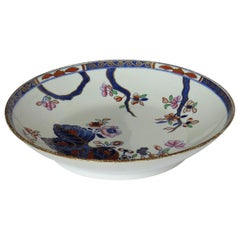 Georgian Spode Deep Plate or Dish Porcelain Tobacco Leaf Pattern 2061 circa 1805