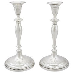 Georgian Sterling Silver Candlesticks 1796