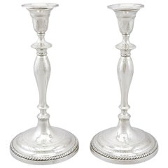 Georgian Sterling Silver Candlesticks, 1796