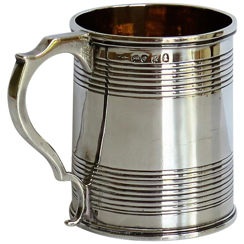 Georgian Sterling Silver Christening Mug Byjoseph Angell No Monogram London 1825