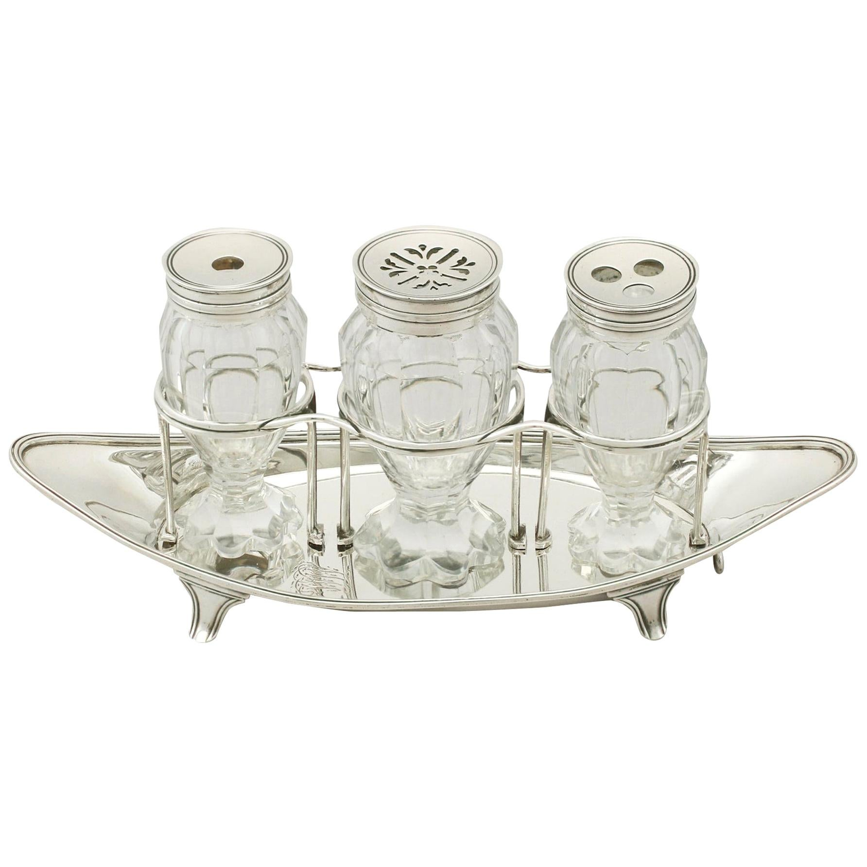 Georgian Sterling Silver Ladies Inkstand by Henry Chawner
