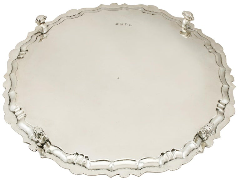 Georgian Sterling Silver Salver by John Tuite For Sale 2