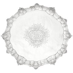 Georgian Sterling Silver Salver, London, by Wm. Peaston, circa 1754