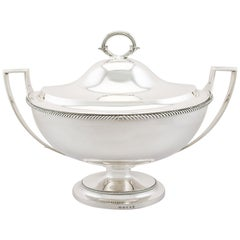 Georgian Sterling Silver Soup Tureen Dish by Paul Storr