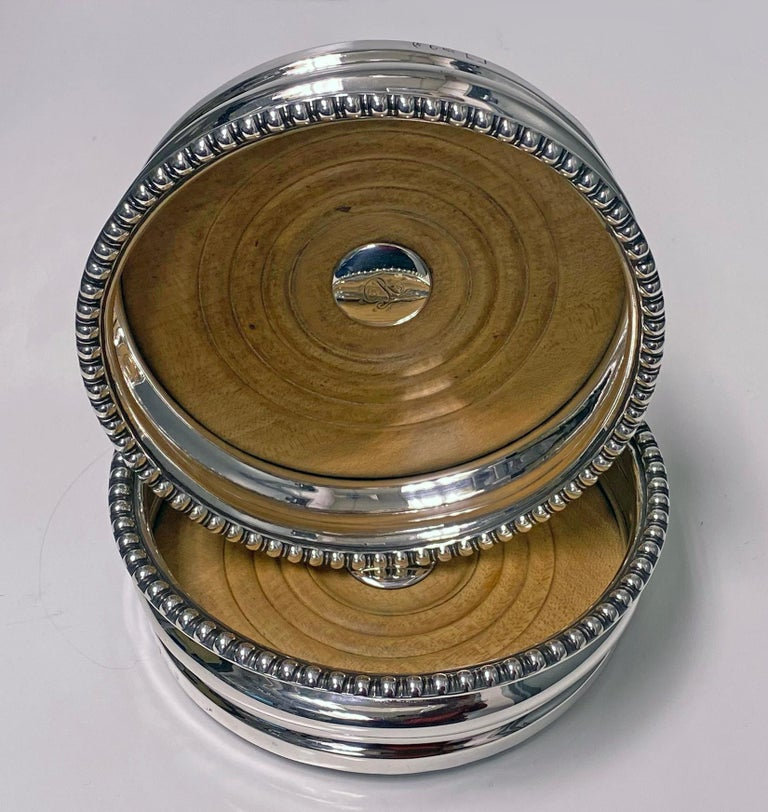 English Georgian Sterling Silver Wine Coasters 1810 Thomas Blagden For Sale