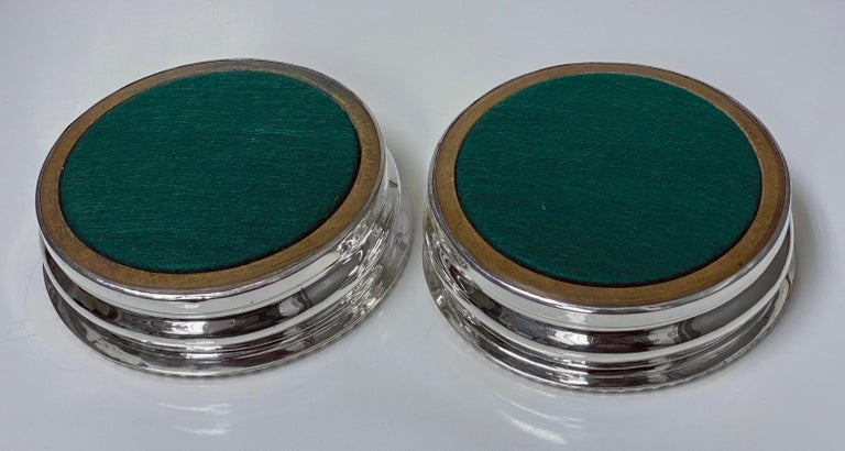 19th Century Georgian Sterling Silver Wine Coasters 1810 Thomas Blagden For Sale