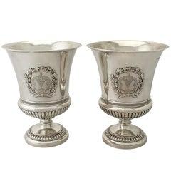 Georgian Sterling Silver Wine Coolers by Paul Storr
