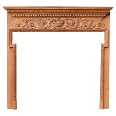 Georgian Style Carved Timber Fire Surround