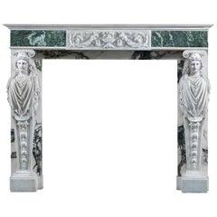 Georgian Style Caryatid Fireplace