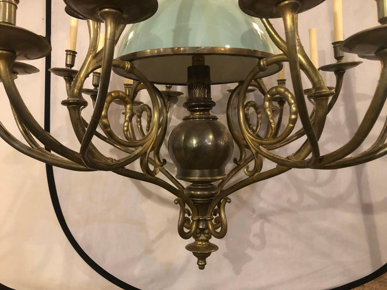 Georgian Style Chandelier with a Globe Centre Matching Chain and Canopy For Sale 3