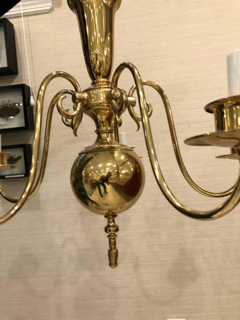 20th Century Georgian Style Chandelier with Five-Arm Lights For Sale