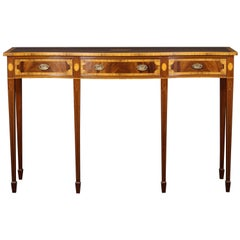 Georgian Style Console, Server, Sheraton Detailing, Mahogany with Yew Banding