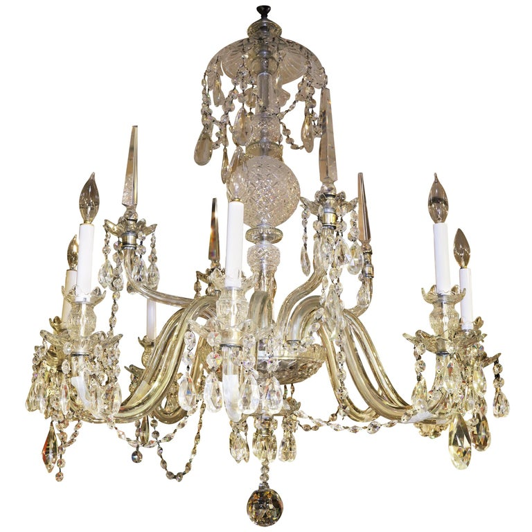 Georgian Style Crystal Chandelier For Sale At 1stdibs