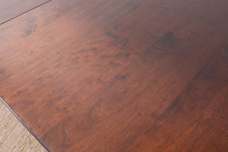 Georgian Style Double Pedestal Walnut Dining Table For Sale 2